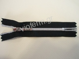 No. 5 polyester nickel plated close end zipper with auto lock sl