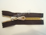 No. 5 polyester brass plated open end zipper with K slider