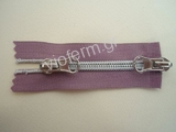 No. 5 2 way open end nickel plated polyester zipper