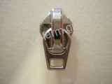 auto lock slider with flat type ring for No.5 polyester zipper